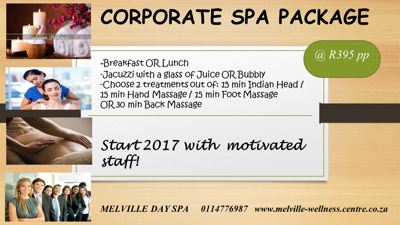 Motivate your staff with a Corporate Spa Package